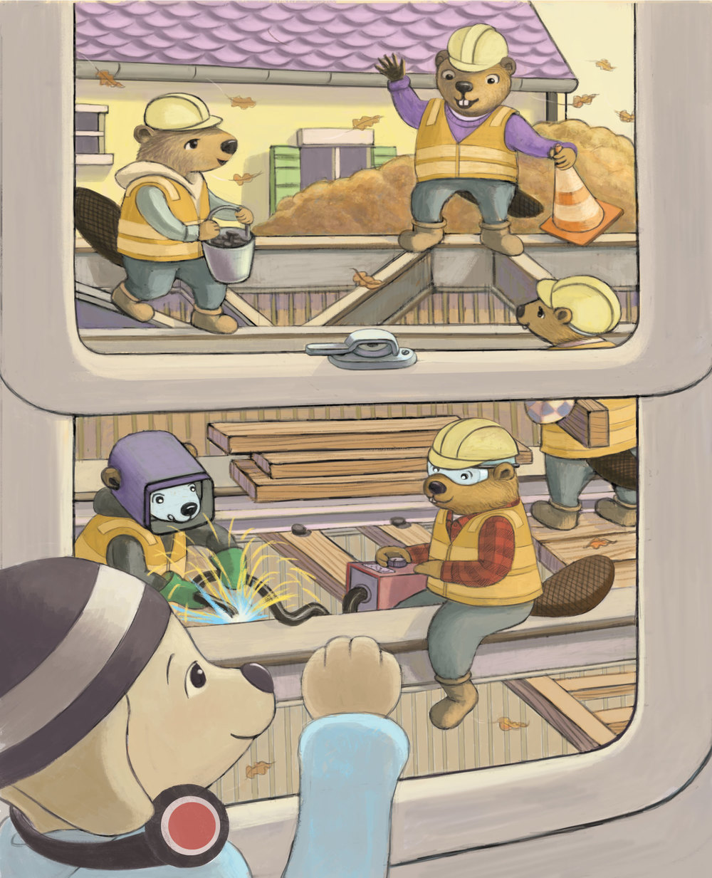 City Railways Go Above and Below (interior page)