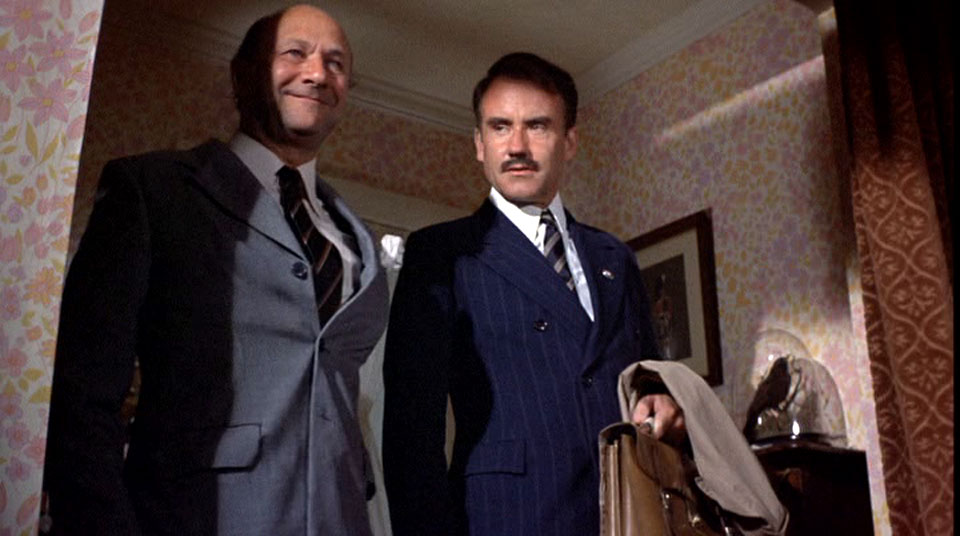 That time Adrian Pasdar teamed up with Donald Pleasence in the 70s.