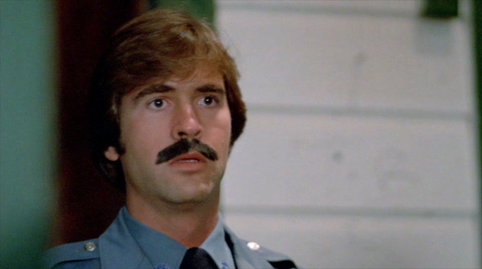 Look, it's easy to make fun of this guy's emergency 'stache.  But I've acted, I got a haircut at a bad time, and had to wear a really horrible wig on stage.  I feel for him, and respect him owning that look.  I salute you, officer Pornstache!