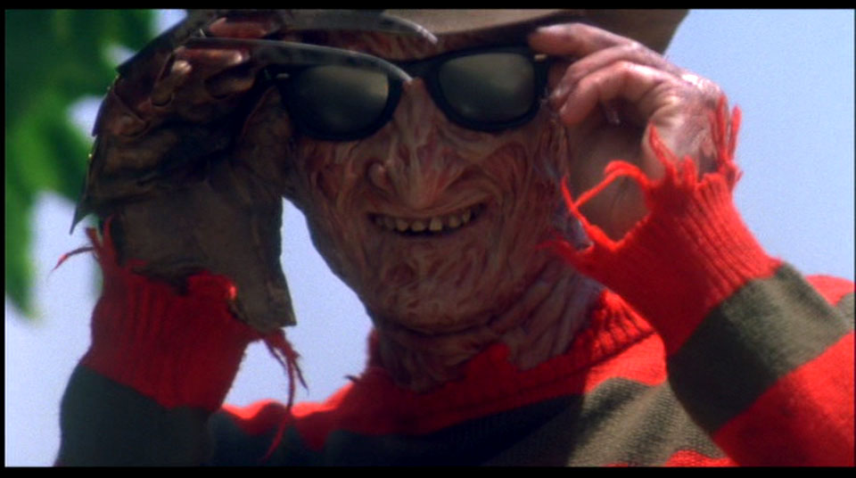 NO Freddy, you put the glasses on AFTER you make the bad puns!