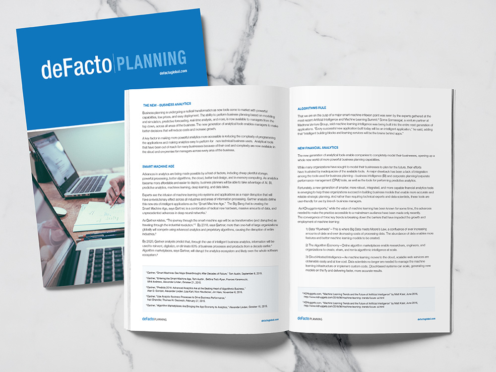 White Paper - White Paper Booklet Design for DeFacto