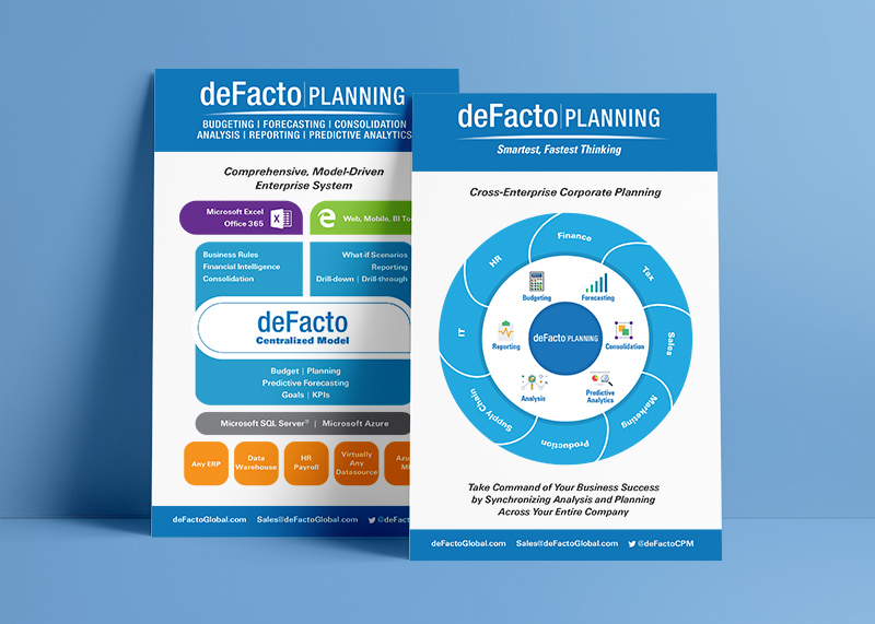 Promo Card - Print promotion for DeFacto's Insurance Conference