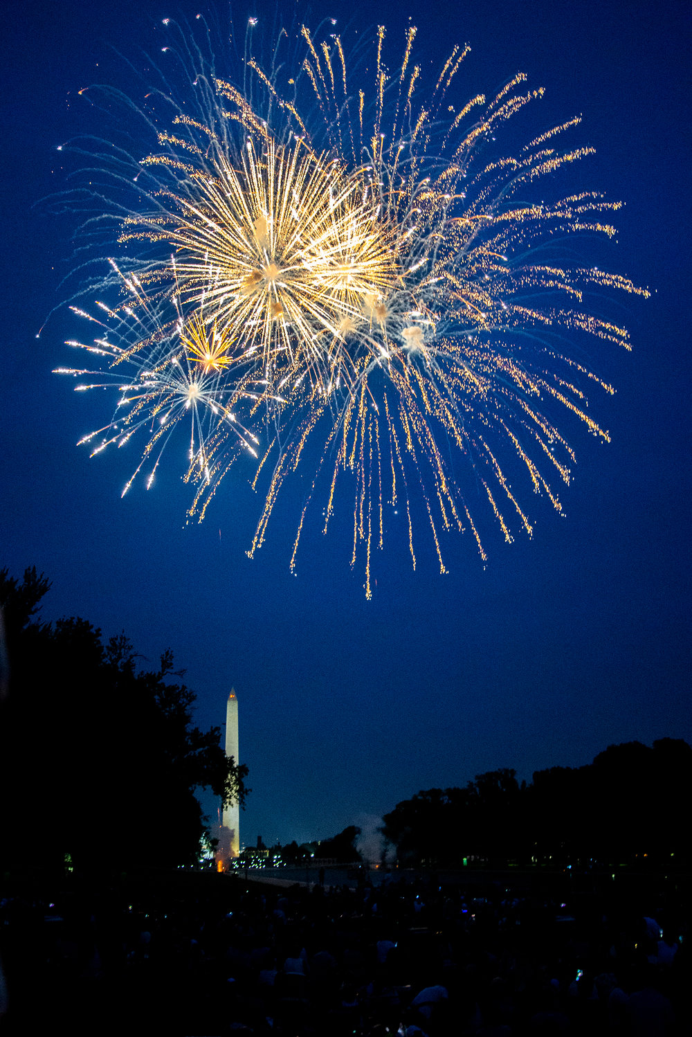 Fourth of July: Fireworks at Lincoln Memorial