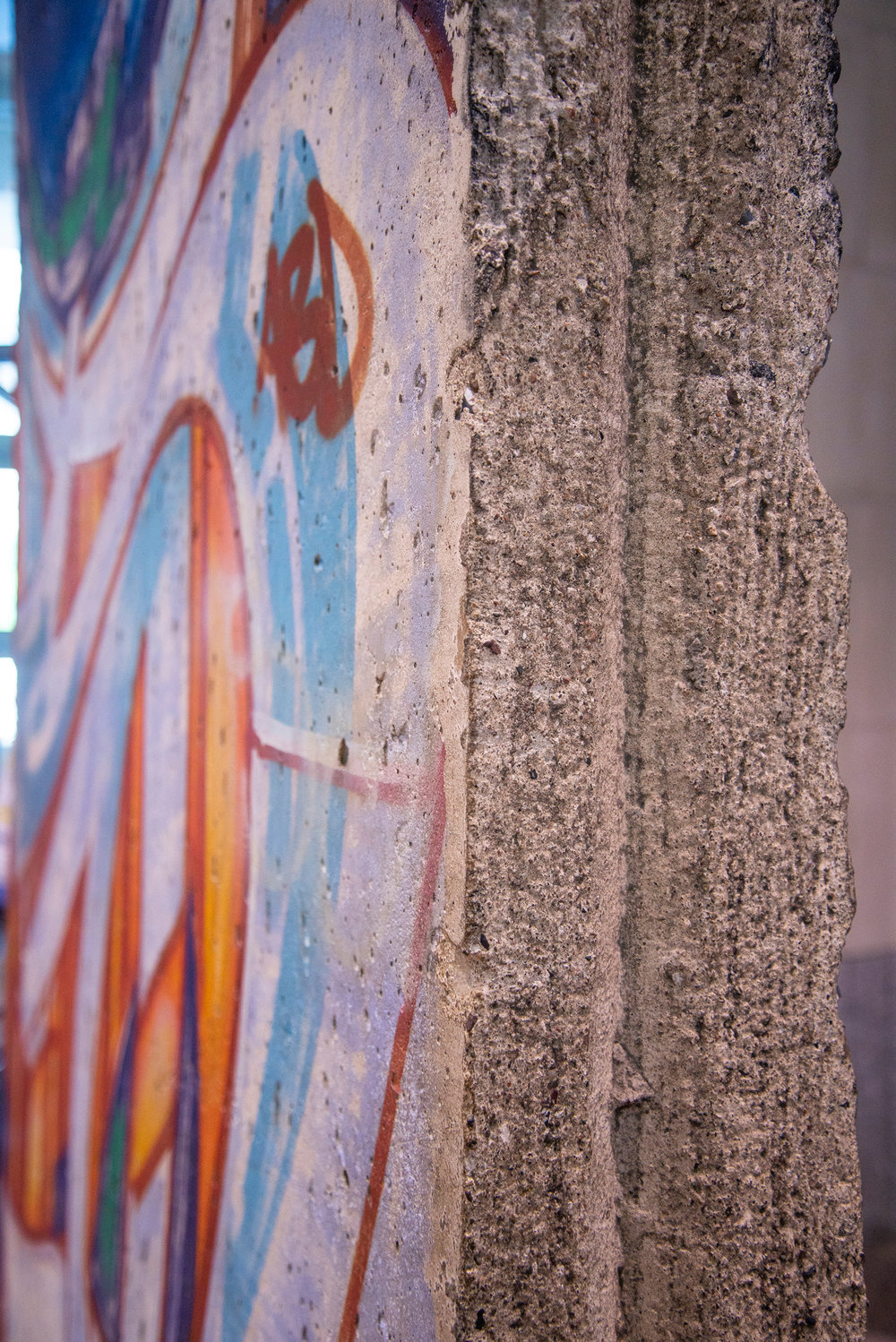 Guide to Washington DC: Berlin Wall in Regan Building Detail