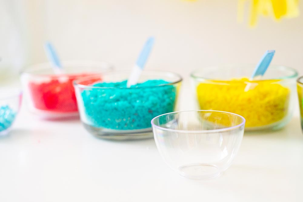 Kids Birthday Party: DIY Cake Bar Empty Cup
