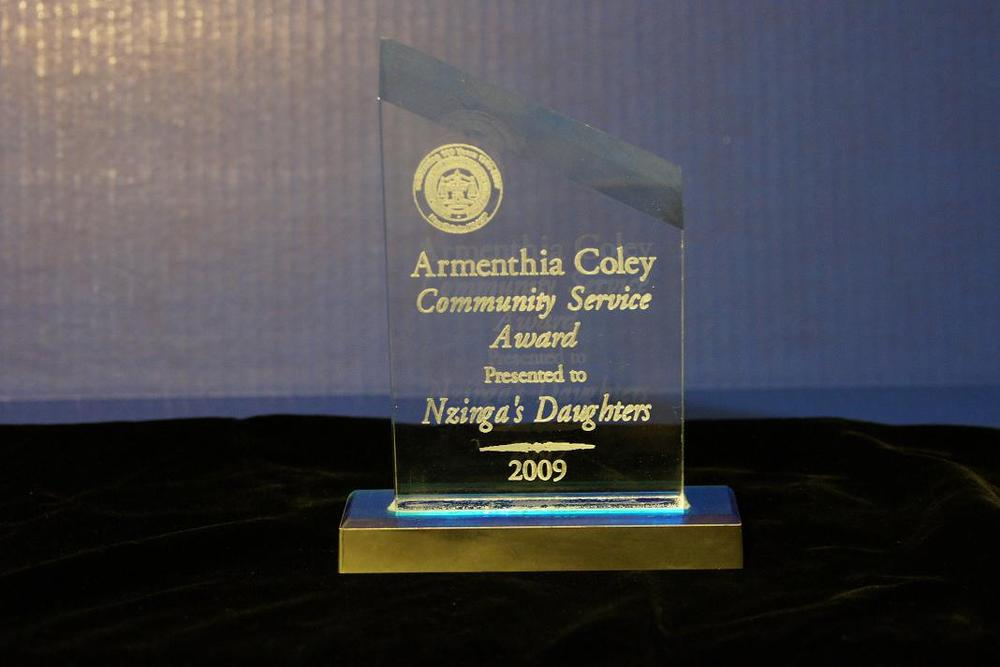 2009 Armenthia Coley Community Service Award.jpg