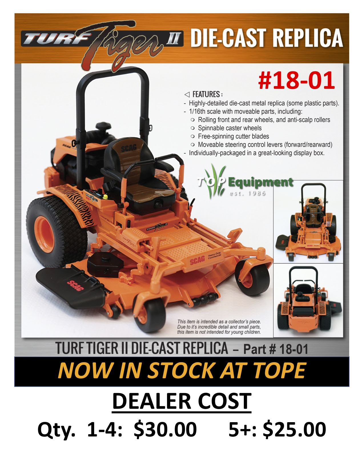 SCAG Die-Cast Mowers are NOW AVAILABLE! — TOP Equipment