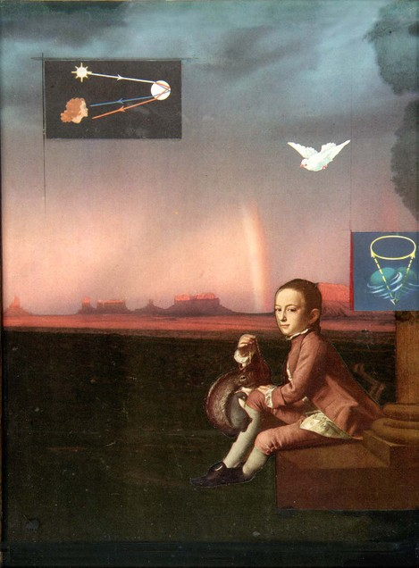 Joseph Cornell,  Americana: Natural Philosophy (What Makes the Weather?)   (ca. 1959), from the collection of the Smithsonian American Art Museum.