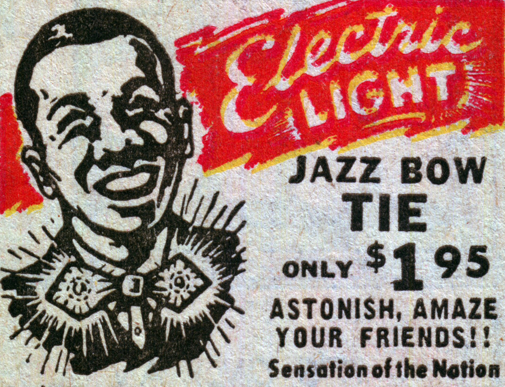 Electric Jazz Bow Tie (1948 advertisement)
