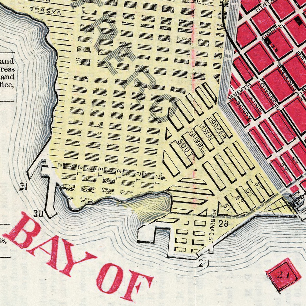 McDonald's Miniature Map Of San Francisco (1879) via Big Map Blog