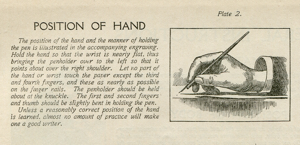 Taken from  Modern Business Penmanship , 1903