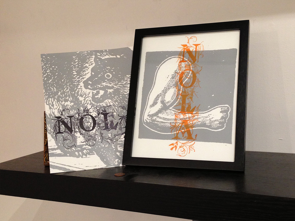 Both prints, unframed and framed