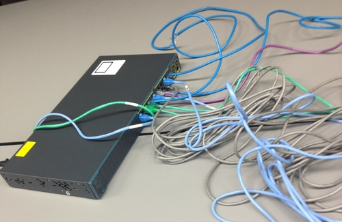 I didn't trust the wireless so I provided a gigabit switch with plenty of cables.