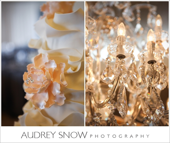 Incredible cake by Ella's Cakes; Crystal chandelier at Moraya Bay