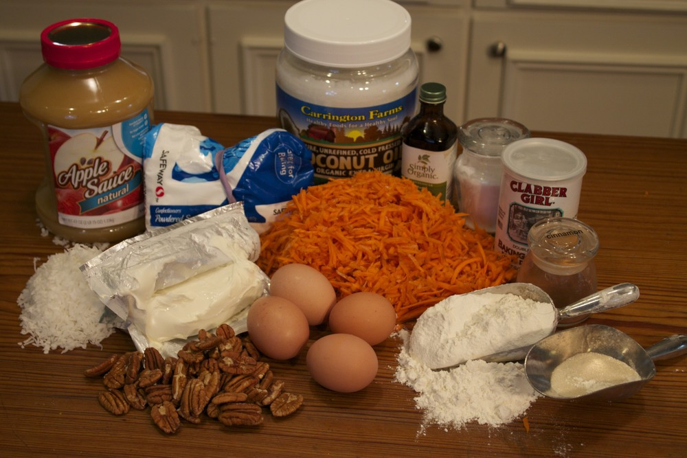 carrot cake--a little healthier!