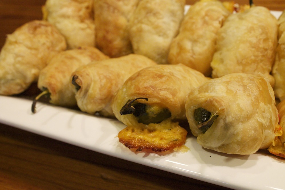 puff pastry wrapped jalapeño poppers