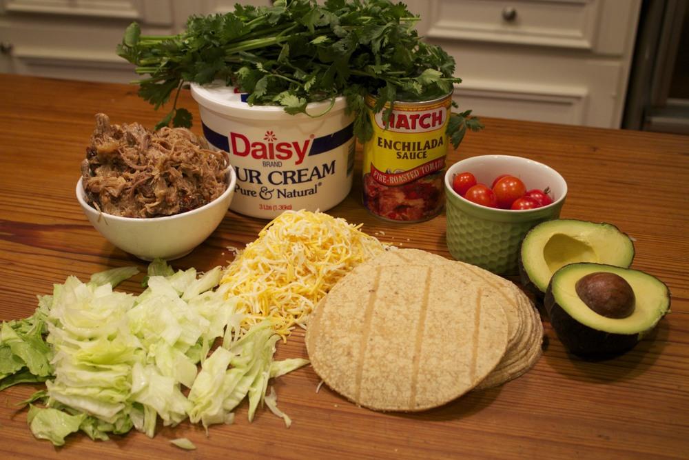 chipotle pork enchilada salad
