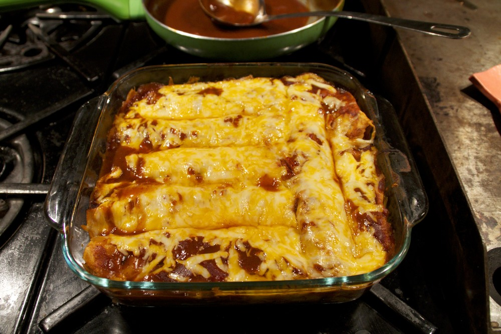 chipotle pulled pork enchiladas