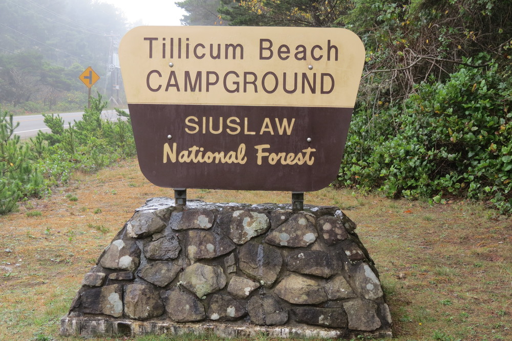 Tillicum Beach Campground Sign
