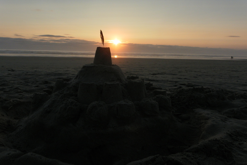Sandcastles on Tillicum Beach