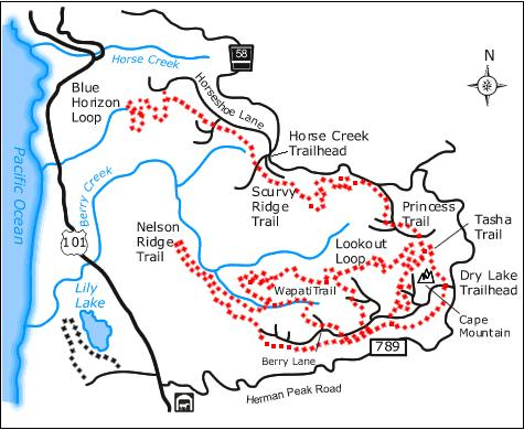 Oregon Coast Horse Trails Map