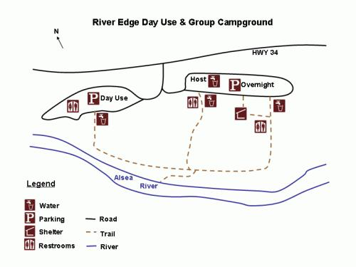 River Edge Campground Map
