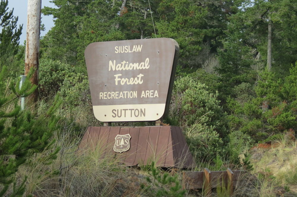 Turn west at the Sutton Recreation Area Sign