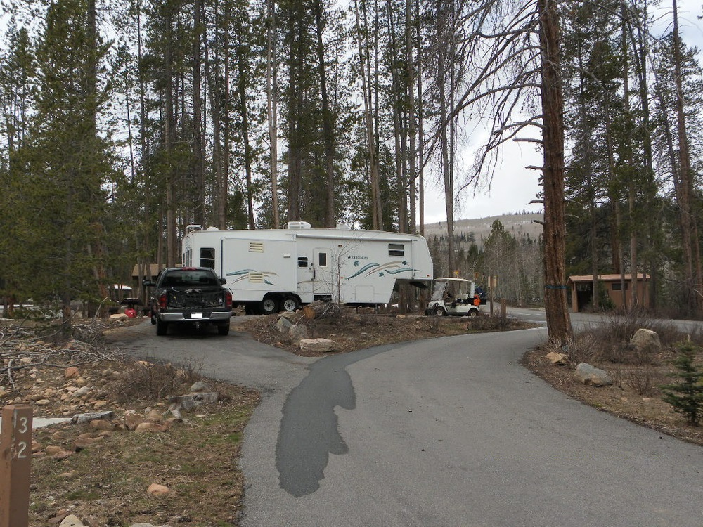 Host Site at Lodgepole Campground, near Strawberry Reservoir, outside Heber City, Utah.