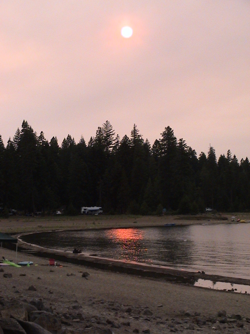 Moonlight Fire Sunset - Rocky Point Campground
