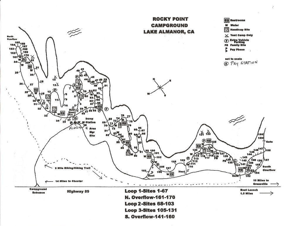 Rocky Point Campground Map