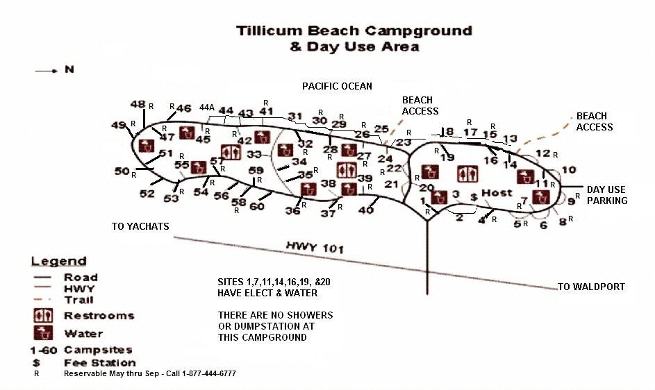 Tillicum Campground Map