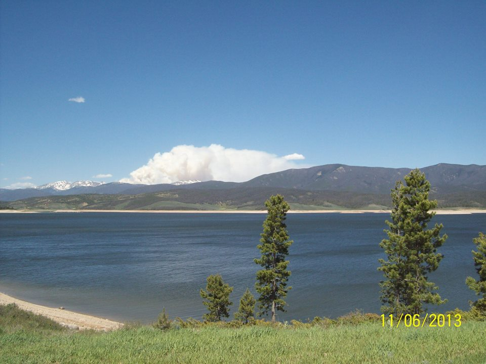 Big Meadow Fire across Lake Granby