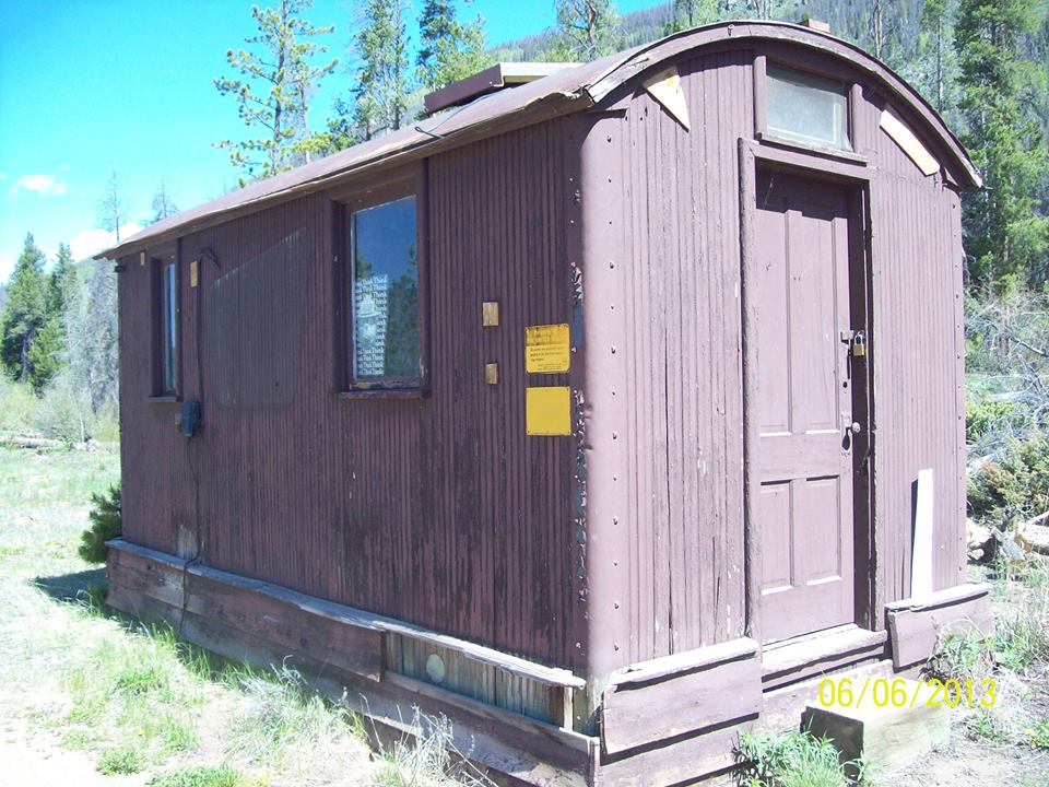 Old rail car used for the supply shed for the Roaring Fork campground managers. - photo by Larry Harmon