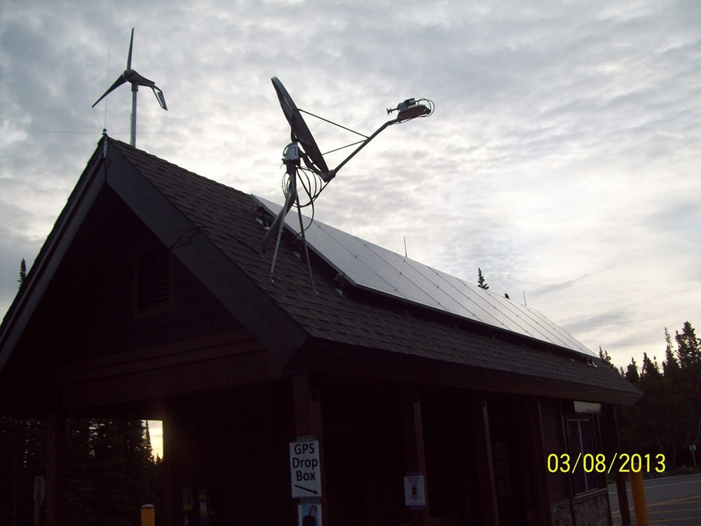 Wind and solar powered