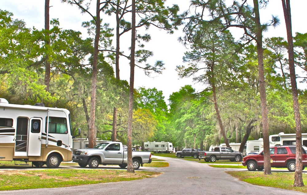 Most Host Sites are in the RV area. - photo by Mike Marchant