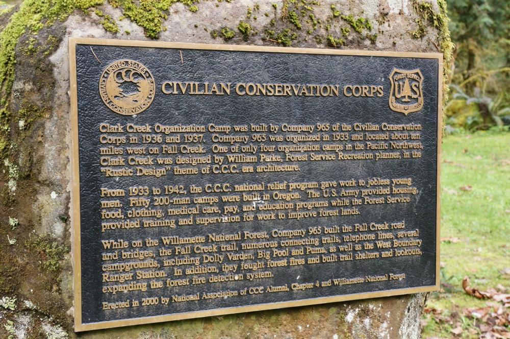 Clark Creek Organization Camp near Lowell, OR