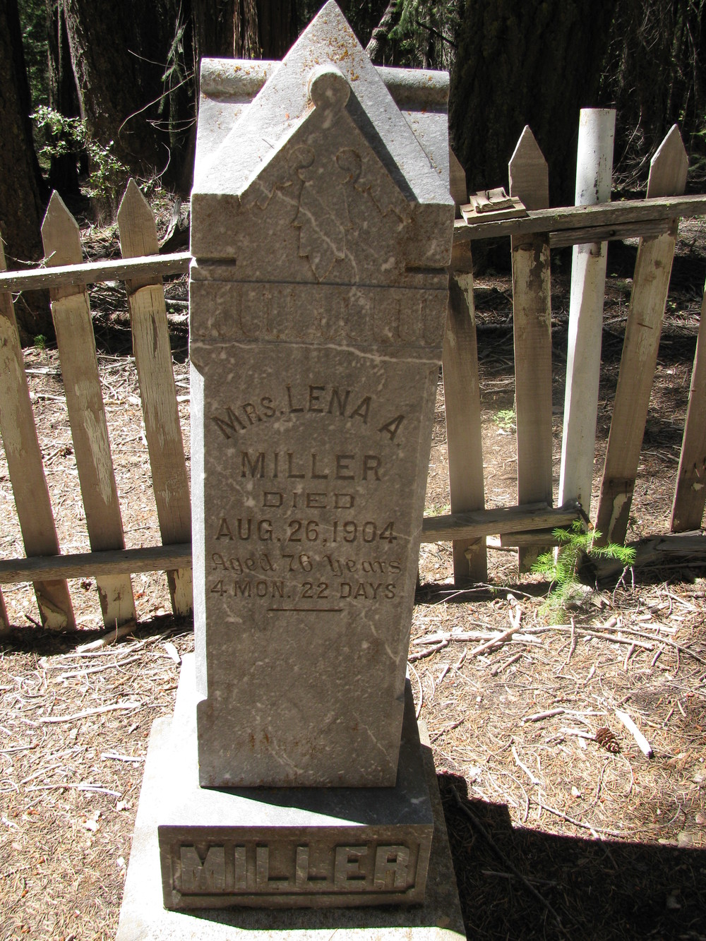 Hike up to the Miller Cemetery