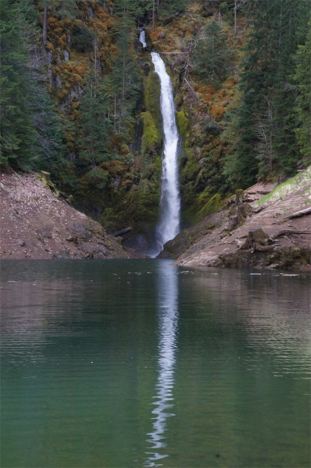 Waterfall at Terwilliger Hot Springs area entrance