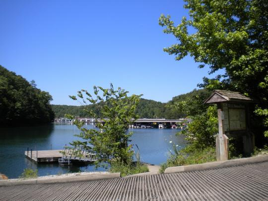 Boat Ramp at marina near Grove Campground