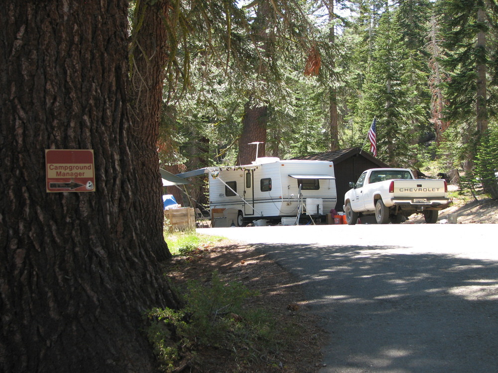 the host site in upper blue lake campground is roomy and shady - Campground Manager