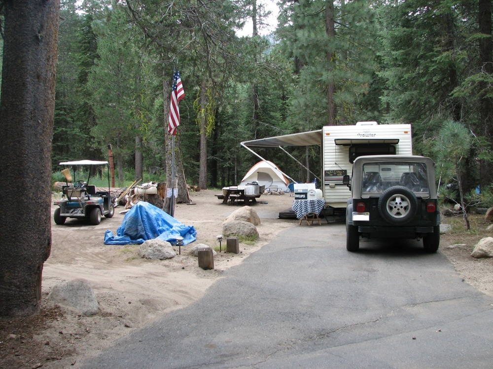 There are 2 host sites in Clark Fork campground.  Here is one.