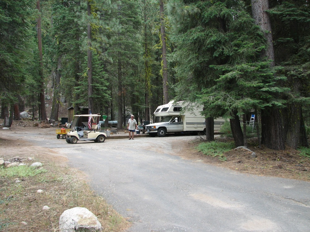 Here is the other host site in Clark Fork Campground.