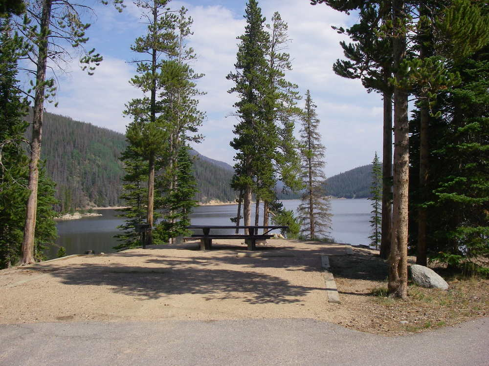 Lakefront campsites