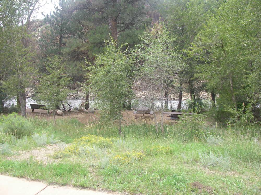 Riverfront camping