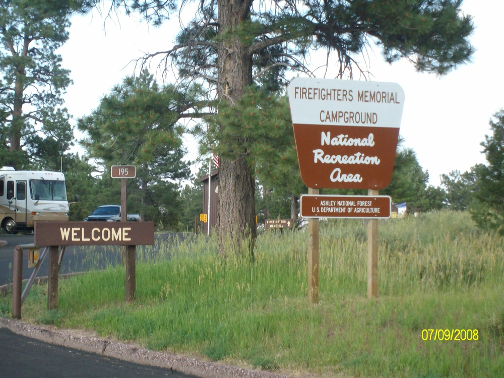 Firefighters Memorial Campground entrance