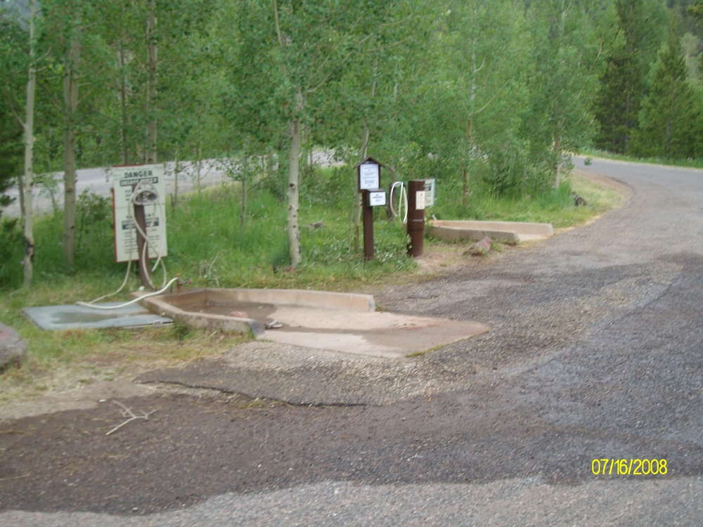 RV dump station at Lodgepole Campground