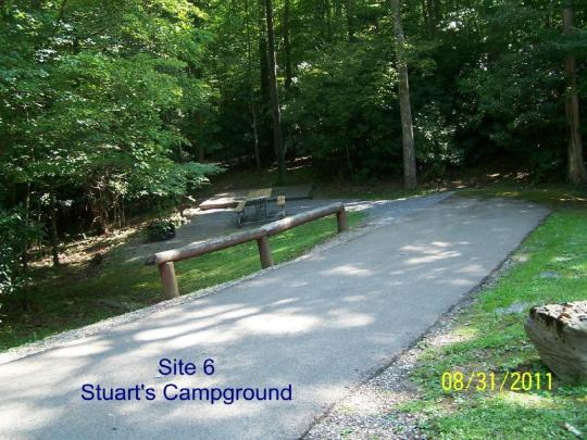 Stuart Campground has many electric site
