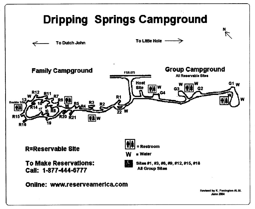 Dripping Springs Campground map
