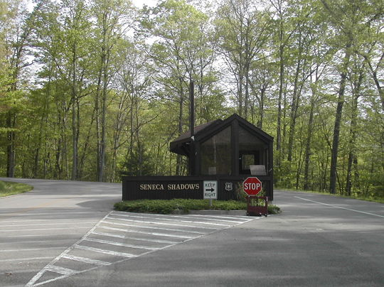 Seneca Shadows Campground entrance
