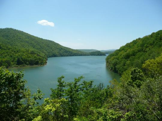 Lake Moomaw at Bolar Mountain in western Virginia